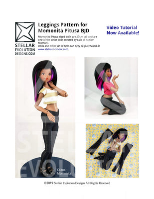 Leggings Sewing Pattern for Momonita pitusa BJD by Stellar Evolution Designs