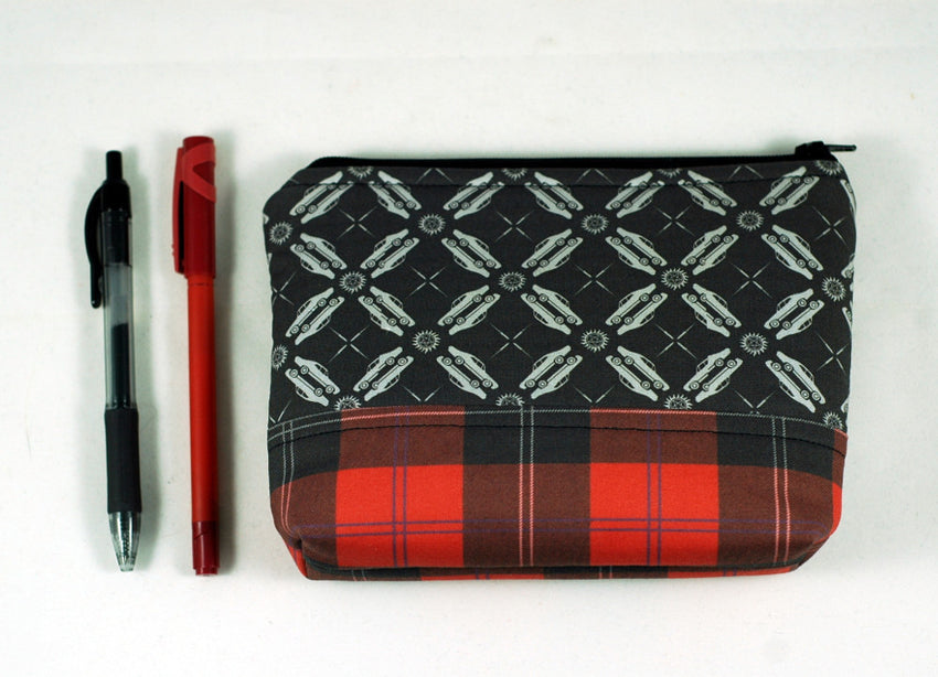 Supernatural Hunter's Zipper Pouch -  Red Plaid