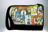 Vintage superwomen messenger bag-handmade geekery-Stellar Evolution Designs