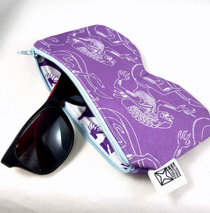 aliens sunglasses zippered case handmade