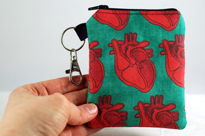 Anatomical heart coin purse-handmade gory accessories-great gifts