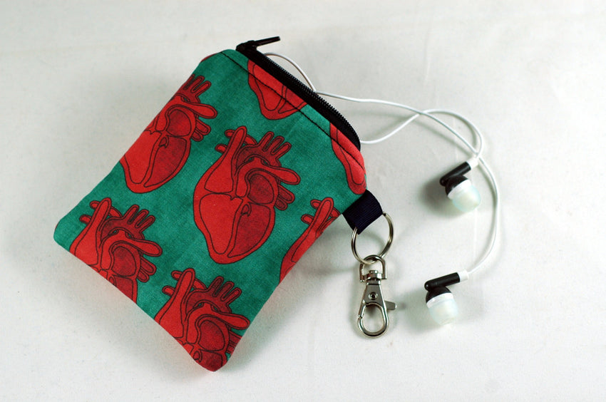 Coin Purse full of ANATOMICAL HEARTS!
