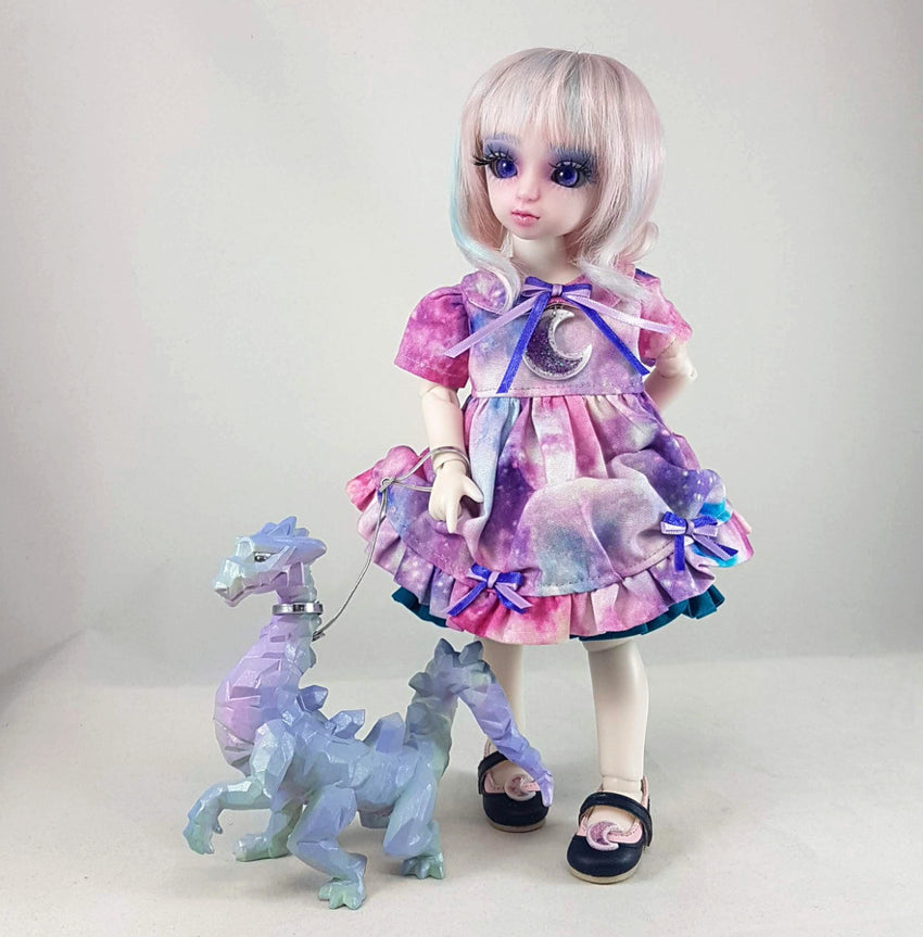 handmade lolita styled galaxy dress for 1/6 scale ball jointed dolls