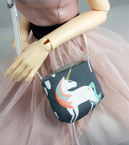 BJD Unicorn Love Slouchy Bag (for Doll)