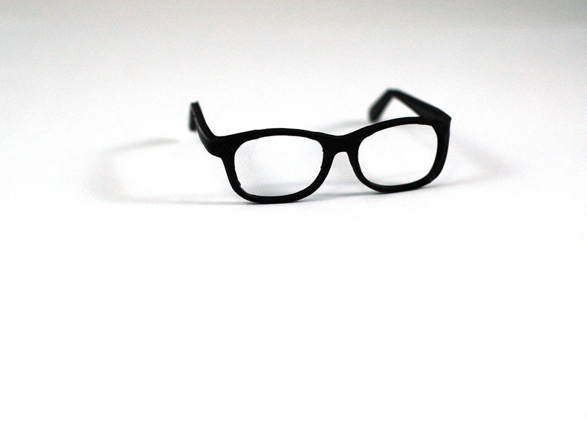 BJD SD Geek Glasses - Black