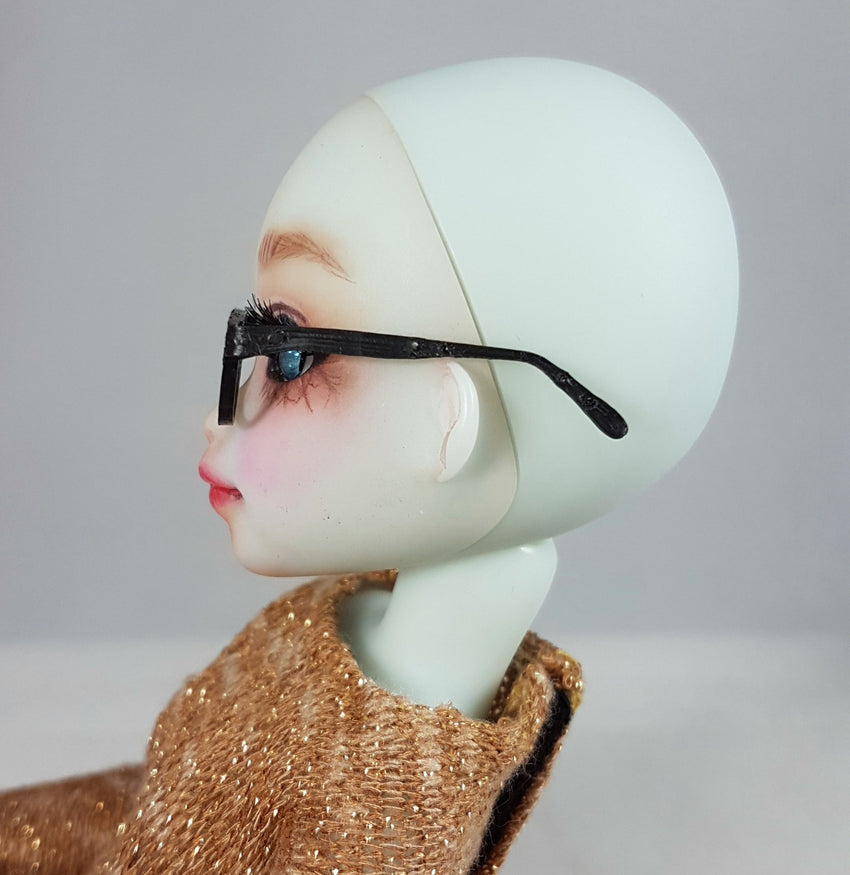 doll glasses side view