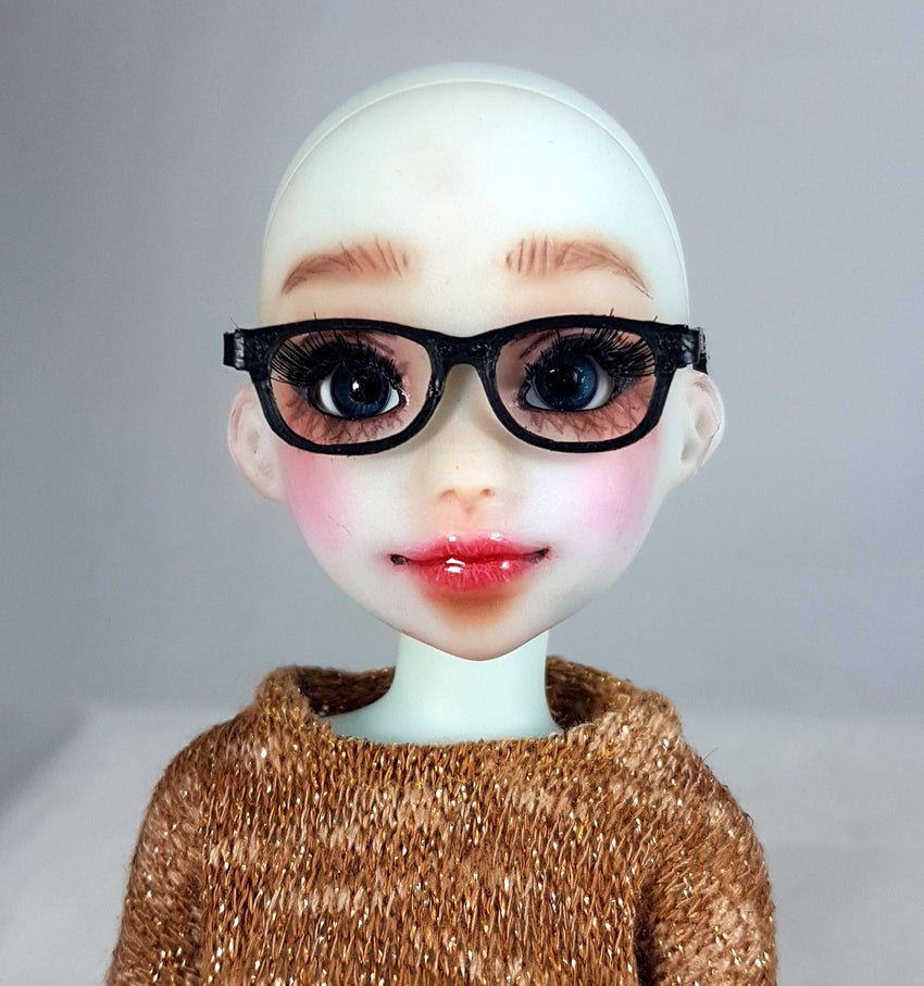 doll glasses 1-6 scale front view