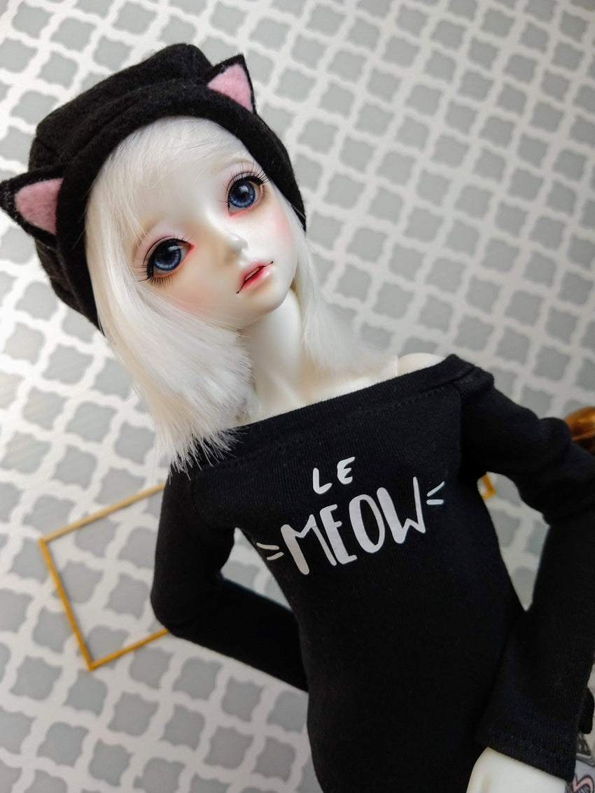 little sophia bjd doll black cat beret made in canada