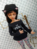msd minifee cat hat clothes set