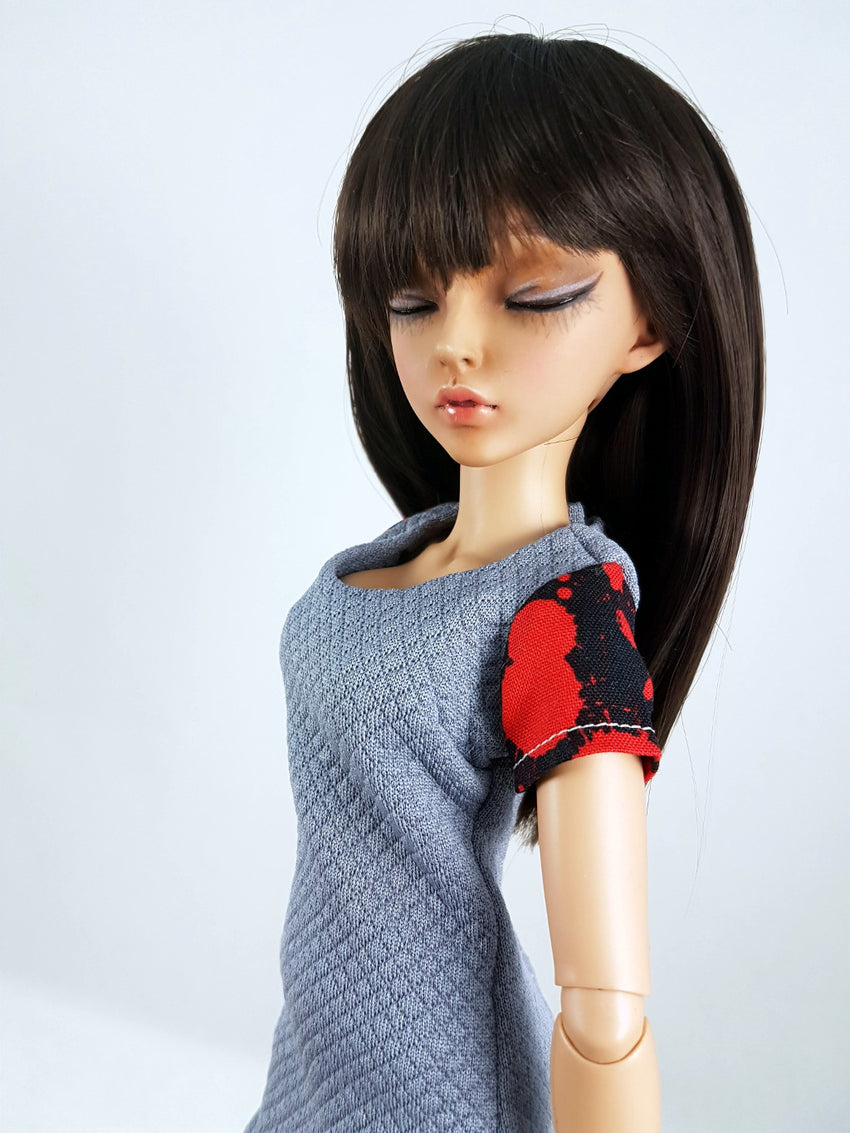punk dress for 1/4 scale bjds