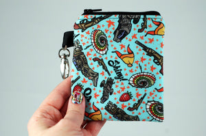 Shiny Firefly illustration coin pouch on handmade geekery by Stellar Evolution Designs