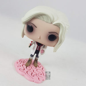 Liv Moore Pop Vinyl on brain stand custom made by SED