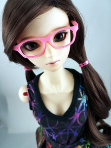 BJD SD Geek Glasses - Bubblegum Pink