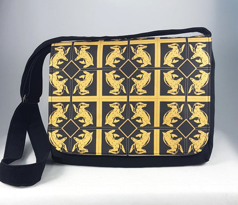 messenger bag handmade for hufflepuffs