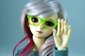 green ball jointed doll glasses