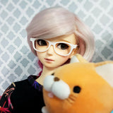 BJD SD Geek Glasses - White