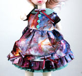 galaxy dress handmade in canada for 1/6 scale ball jointed dolls