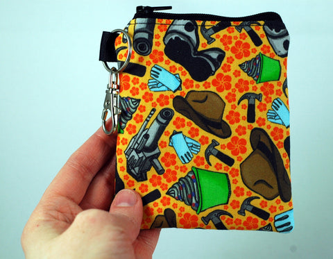 Coin Purse featuring Dr. Horrible & Captain Hammer-Orange