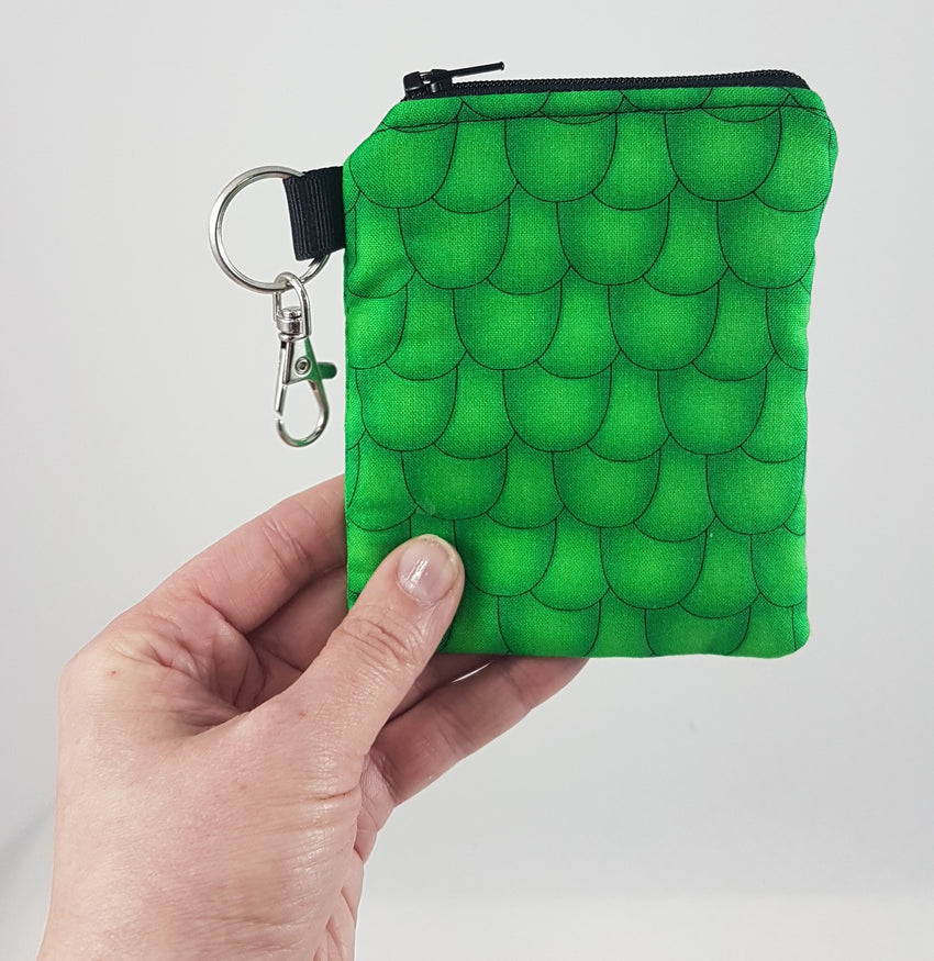 scale image of coin purse being held by human hand