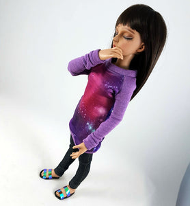 MSD Raglan Tunic Sweater - Galaxy