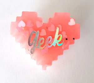 geek resin pin handmade by stellar evolution designs