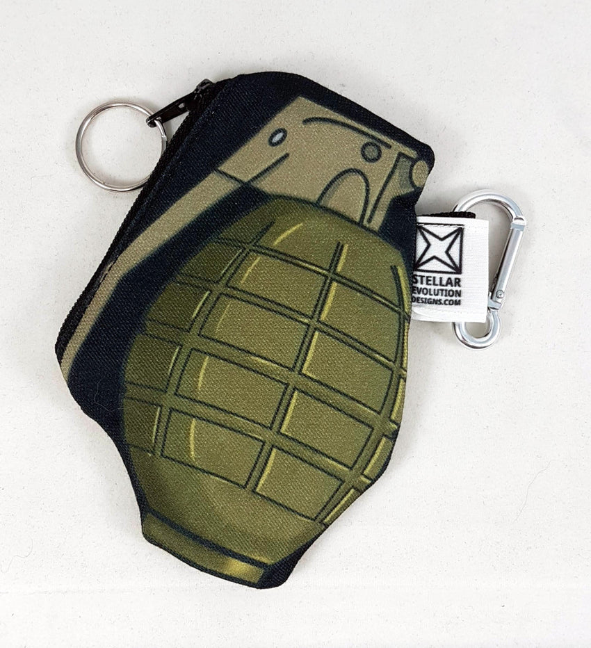 grenade coin purse in ecocanvas other side