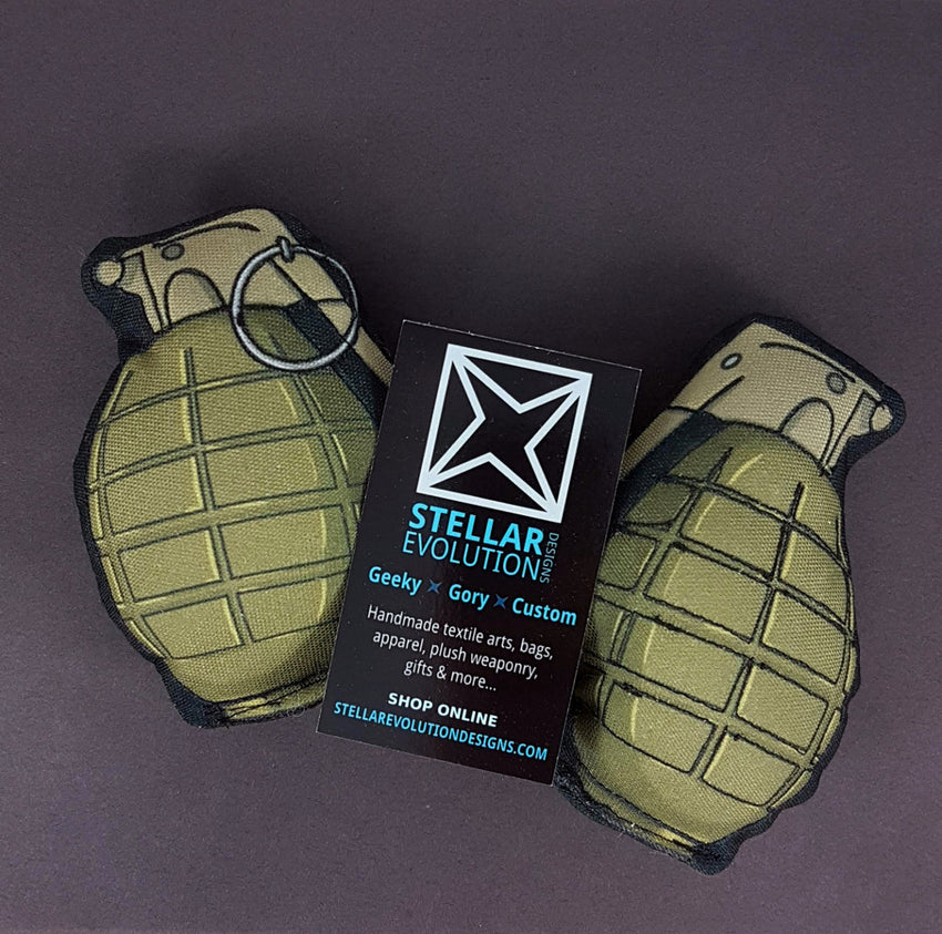 plush grenades for cosplay by stellar evolution designs