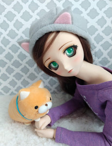 grey cat hat beret SD dollfie dream size