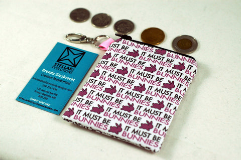 It must be bunnies-coin purse-Buffy fan gift-Stellar Evolution Designs