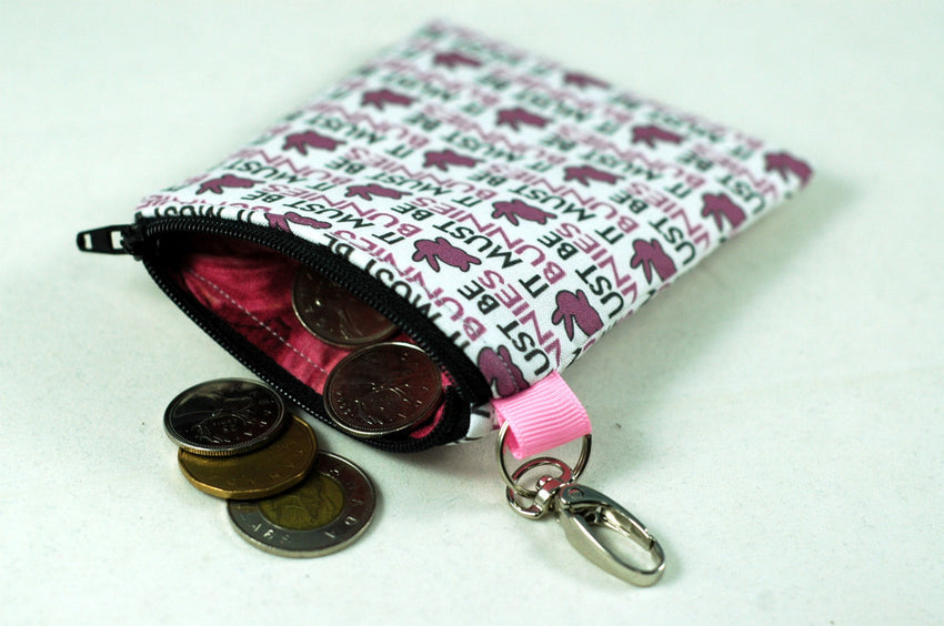 "Coin Purse ""It must be BUNNIES!"" a great line from Anya, Buffy the Vampire Slayer!"