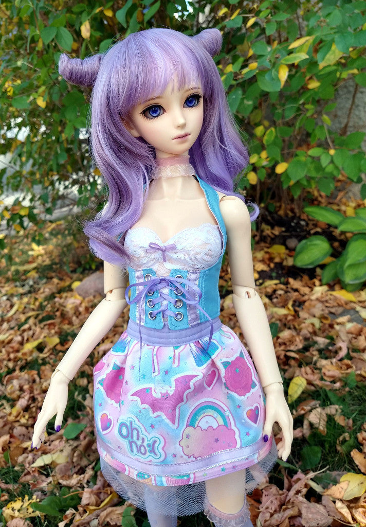 Corset and Skirt set - for Curvy 1:3 SD Resin Vinyl BJD - Kawaii Halloween