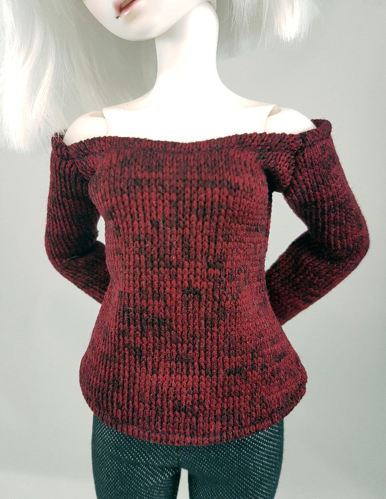 red sweater on little sophia from little monica 1/4 scale