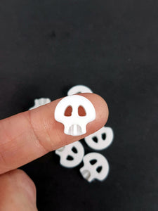 large kawaii skull buttons 3d printed