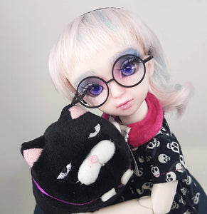 yosd fine round harry potter type circular glasses on this 25cm tall bjd