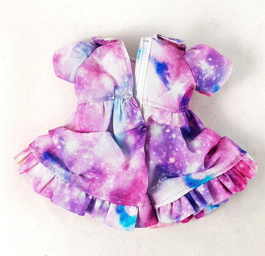 1:6 Galaxy Dress, Petticoat underskirt and Bloomers Outfit Set - for YOSD BJD (25cm) tall - Light Galactic