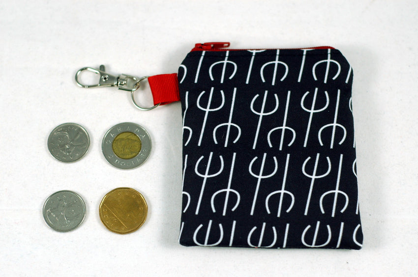Little Devil-Black and White Coin Purse