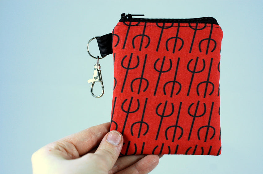 Devil pitchfork coin purse-Lucifer-gifts for naughty people on your list-handmade gory accessories