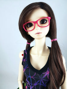 BJD SD Geek Glasses - Magenta Pink