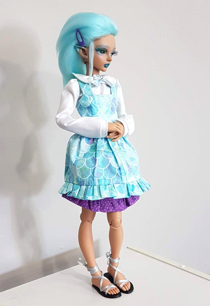 bjd mermaid lolita dress by stellar evolution designs
