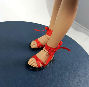 minifee moe line 3d printed ribbon sandals with removable ribbons
