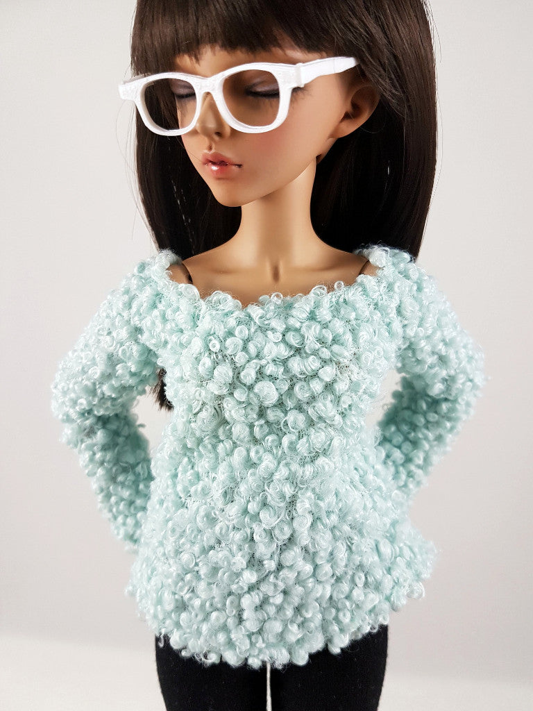 MSD Cold Shoulder Sweater - Mint