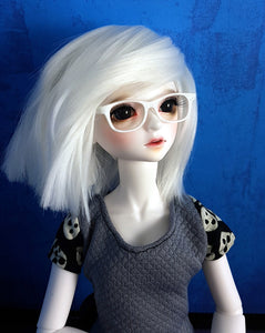 white bjd MSD glasses