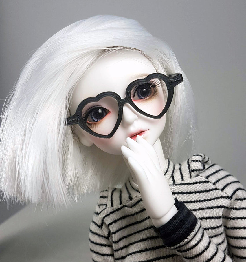 BJD MSD Heart Glasses