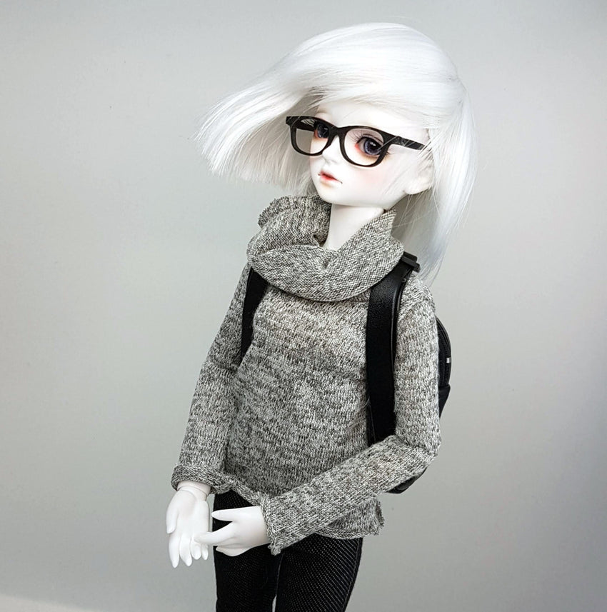 MSD / Minifee Cowl Knit Sweater-Grey