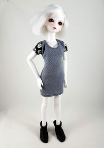 1:4 scale bjd punk dress with skulls on little sophia by little monica bjd