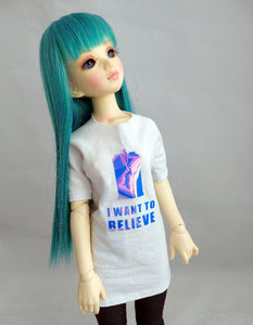 MSD i want to believe whovian shirt for doll