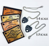 ouiji planchette necklace and boards miniatures for dolls