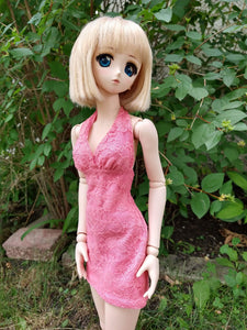 Dollfie dream halter dress pink