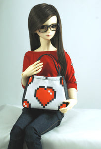 ball jointed doll tote bag by stellar evolution designs