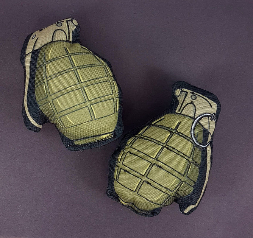 digitally printed fabric plush grenades for halloween